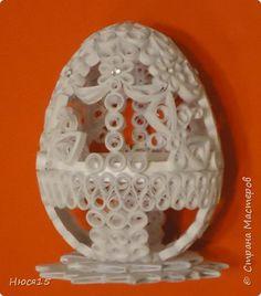 Поделка изделие Пасха Квиллинг Пасхальные яйца часть 3 Бумажные полосы фото 4