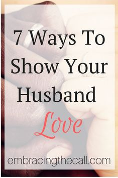 Our husbands need encouragement and love as well. I hope you will join me in showing your husband that he is still appreciated!