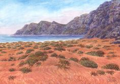 SeniorTip Watercolor Landscape, Grand Canyon, Rocks, Pastel, Trees, Mountains, Drawings, Nature, Plants