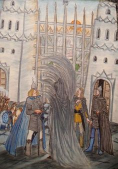 At the Great Gate of Gondolin by Murrauddin on deviantart