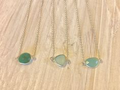Mermaid Jewels • Sterling Silver • Choker Chalcedony Necklace by SparrowSeas on Etsy