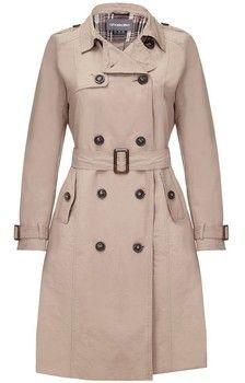 Anastasia - Women's Beige Belted Trench Coat BEIGE