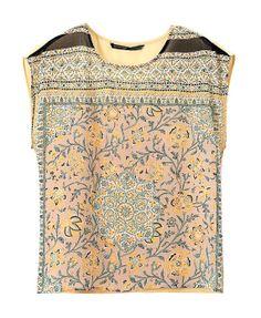 Tapestry Chiffon Shirt