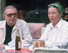 Jean-Paul Sartre and Simone de Beauvoir in Rome