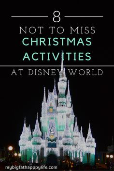 What are my favorite things to do at Disney World during the holiday season? See 8 Christmas Activities at Disney World.