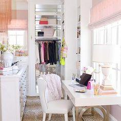 Dream Closets, Transitional, closet, Pink Peonies