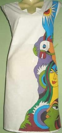 fabric painting designs for black kurtis - Google Search