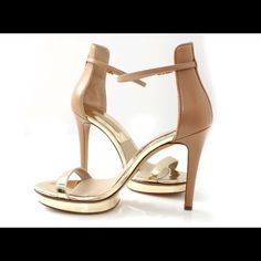 """✨MICHAEL KORS DORIS PLATFORM SANDALS✨ Gorgeous Doris Platform Sandal From Michael Kors, I wore them only one time for a couple hours, they have no damage and look exactly like a new pair of shoes.   4.125"""" Heel With 0.75"""" Platform  Single Toe Strap With Ankle Strap And Buckle Closure  Leather Sole, Insole, And Lining With Suede Heel Trim And Patent Leather Upper And Trim Michael Kors Shoes Heels"""