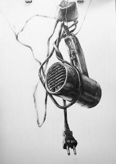 A dryer by on deviantart art: drawing --- graphi Drawing Sketches, Pencil Drawings, Art Drawings, Sketching, Graphic Design Books, Value In Art, Observational Drawing, Unique Drawings, Still Life Drawing