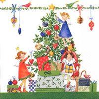 2291 Servilleta decorada Navidad
