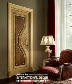 luxury interior doors for classic interior, luxury Italian wood door designs 2015 Classic Interior, Luxury Interior, Room Interior, Interior Design, Interior Doors, Wooden Front Door Design, Main Door Design, Modern Wooden Doors, Wood Doors