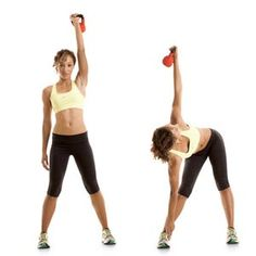 Great Kettleball workout that works your whole body :) you can substitute a hand-weight for the kettleball