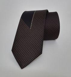 Cravat - Brown Tie - Men's Necktie - Brown Tie - SL172 #handmadeatamazon #nazodesign