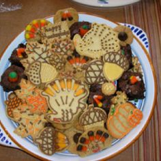 Thanksgiving cookies turkies