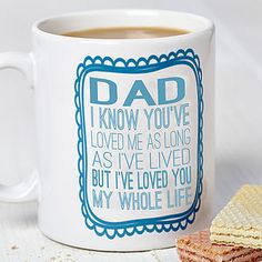 Dad Typography Design Mug