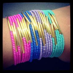 Seed beads and tube beads bracelets made by  Ana Maria Botero Lopez from LC.Pandahall.com   #pandahall