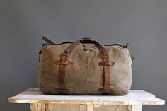 Vintage Filson Medium Duffle Bag Distressed collection by abrshop, $400.00