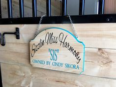 Personalized Custom Horse Stall Sign by BarnDoorBoutiqueShop