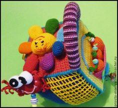 Развивающие игрушки ручной работы. Ярмарка Мастеров - ручная работа Кубик-развивашка,с секретиком под листочком.авторская работа. Handmade.