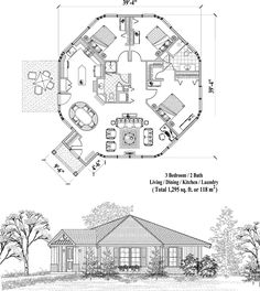 Patio Collection PT-0523 (1295 sq. ft.) 3 Bedrooms, 2 Baths LOVE THIS