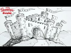 How to draw a castle - spoken tutorial❤️