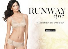 NEW STYLE: Pure Couture Underwire Bra and matching Hipster. Also available in Contour. Click to shop!