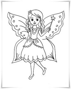 Fairy Coloring Pages for Kids. 20 Fairy Coloring Pages for Kids. Coloring Pages Free Printable Fairy Coloring for Kids Butterfly Coloring Page, Fairy Coloring Pages, Coloring Pages For Girls, Coloring Pages To Print, Coloring Books, Free Printable Coloring Pages, Free Coloring Pages, Wings Drawing, Elves And Fairies