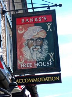 The Turks Head (3) - pub sign, 147 Worcester Road