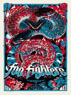 a8139a4be5a43 Foo Fighters Live, Foo Fighters Poster, Foo Fighters Dave Grohl, Band  Posters,