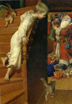 Gennady Spirin - The Night Before Christmas (Love the cats and Santa's mustache)