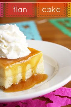 Flan cake is one of those things that I arrived at in a very round-about way: