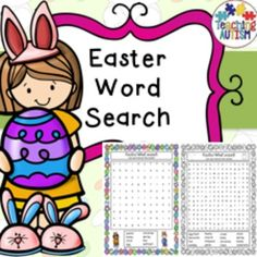 Easter Word Search Fun ActivityThis is great for early finishers or just a bit of a fun time filler activity.There are 5 different word searches in total, each come in color or black and white option for your preference. There are 3 x easy word searches, 2 x harder word searches.