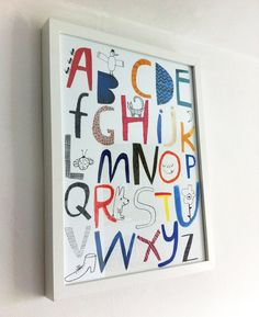 Alphabet poster giclee print by helloemmalewis on Etsy