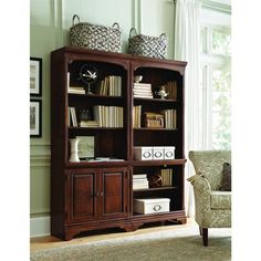 This traditionally styled Ethan bookcase wall is the perfect storage solution for any elegant space. Featuring a rich finish, this stylish bookcase will unify your home's decor and create a classically graceful atmosphere.
