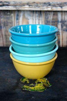 Ceramic Rimmed Cereal Bowls, Set of 4