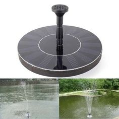 Water Solar Panel Power Flotation Fountain Pond Pump for Garden Water Submersibl #Unbranded