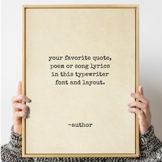 Custom quote print, Typewriter quote art, personalized quote, Custom sign, Custom poem print, Quote poster, Custom print, typewriter print by Socialholic on Etsy Quote Posters, Quote Prints, Quote Art, Vintage Quotes, Framed Quotes, Create Your Own Card, Text Quotes, Funny Cards, Favorite Quotes