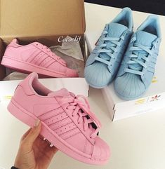 colored Adidas sneakers