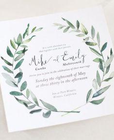 invitaciones acuarela y lettering
