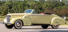 View 1938 CADILLAC SERIES 90 V-16 CONVERTIBLE COUPE Details