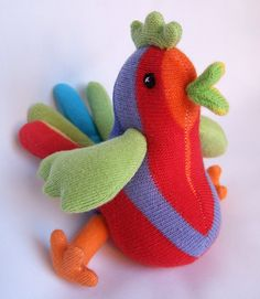 rainbow sock chick, via Flickr.