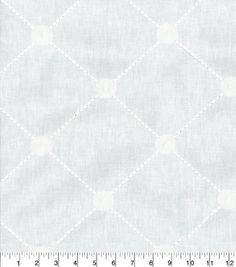 Kelly Ripa Home Upholstery Fabric-Fanfare Embroidery Frost