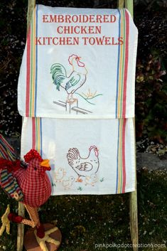 embroidered chicken
