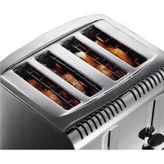 Buy Russell Hobbs Buckingham 4-Slice Toaster St/Steel 20750   Toasters   Argos Stainless Steel Toaster, Brushed Stainless Steel, Black Toaster, Toasters, Crumpets, Hobbs, Argos, Stuff To Buy, Buns