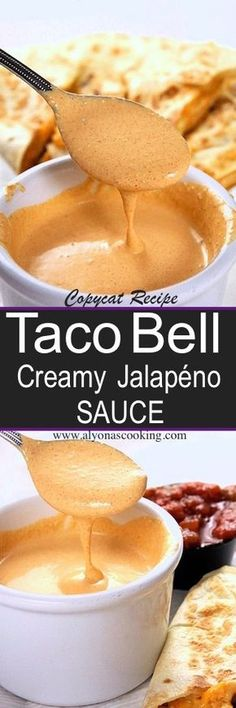"If you favor Taco Bells quesadilla sauce also called ""Creamy Jalapeño Sauce"" then you have yet to try this homemade version!"
