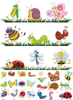 Cartoon insects vector | Vector Graphics Blog