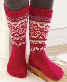 Chaussettes de Noël avec jacquard nordique Magazine Drops, Christmas Calendar, Knitting Socks, Knit Socks, Drops Design, Crochet, Free Pattern, Villa, Instagram Posts