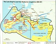 The Late Empire and the First Barbarian Kingdoms #Europe #RomanEmpire #SuevicKingdom 285-451