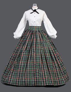 Ladies Victorian Dickensian Carol Singer School Mistress Day Costume Image