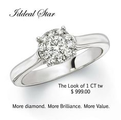 An affordable way of wearing a 1CT diamond look without the Price. @ Christo Jewelers